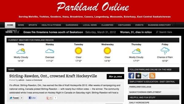 parkland online - Yorkton, Melville, Saskatchewan, Canada